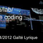 tmp/lab Live coding @ La Gaîté Lyrique
